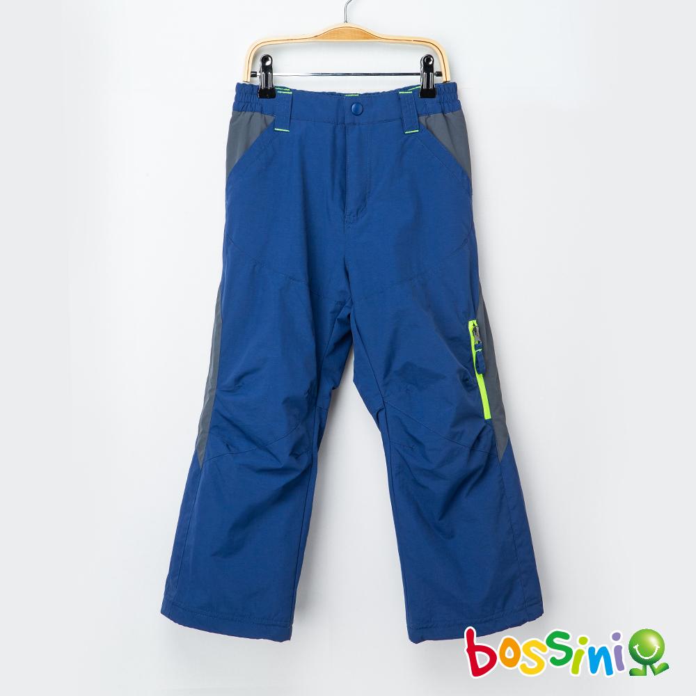 bossini男童-(網路款)多功能防風雪褲藍紫