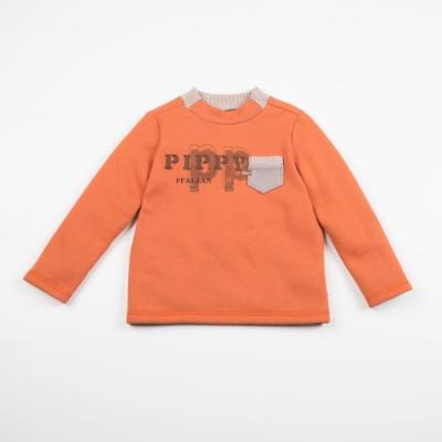 PIPPY LOGO剪接針織上衣-橙