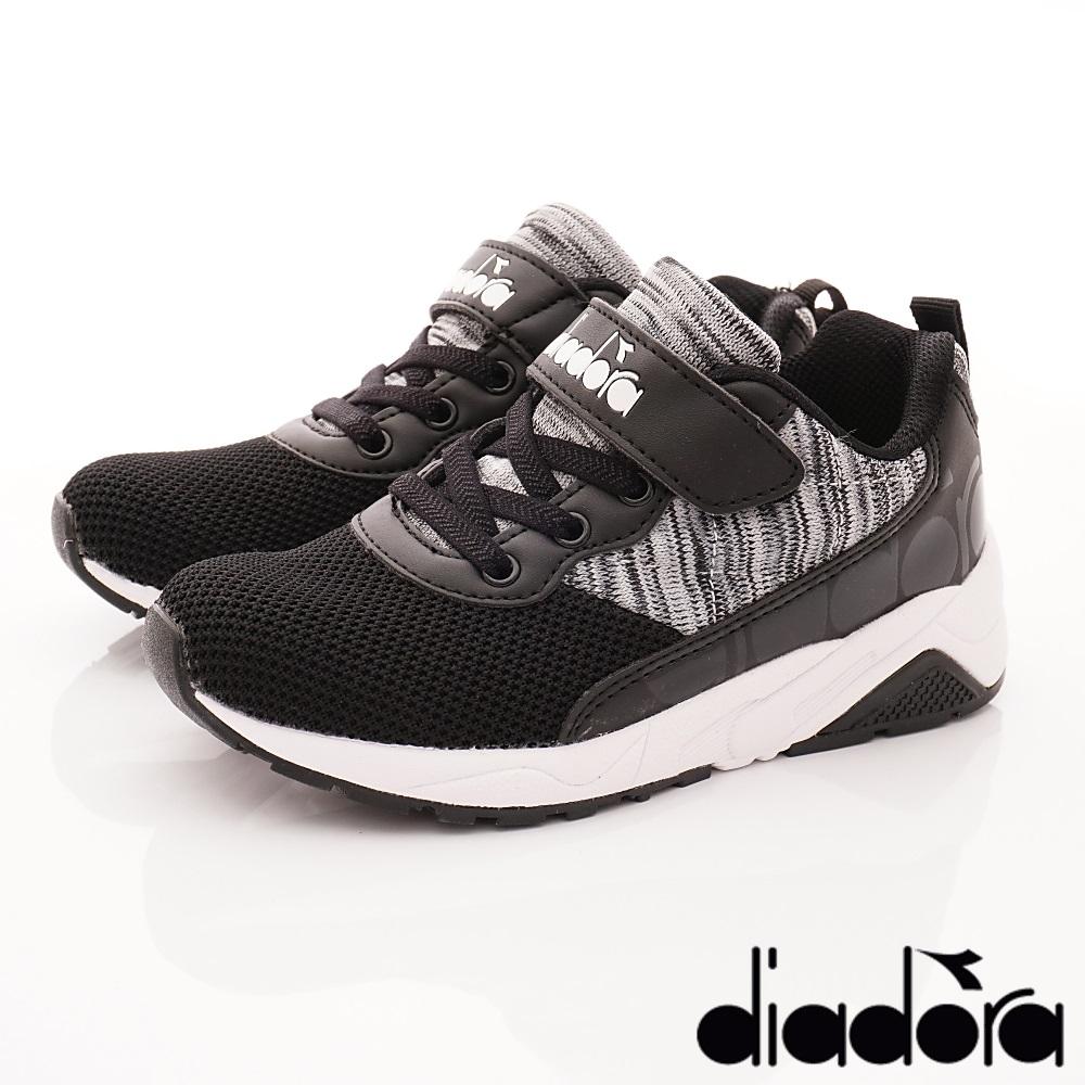 DIADORA 3E寬楦針織運動款 SI330黑(中大童段)