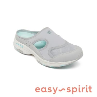 Easy Spirit-seTRAVER2 彈性舒適簍空休閒包覆拖鞋-灰色