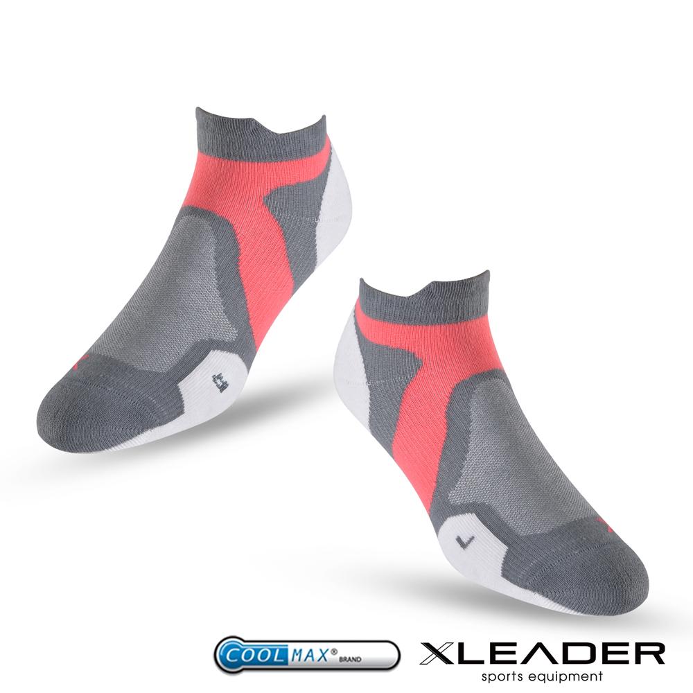 LEADER ST-02 X型繃帶加厚耐磨避震短襪除臭運動襪 女款 白灰