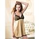 華歌爾睡衣-性感系列沙典舒適 M-L一件式裙款(金膚) product thumbnail 1