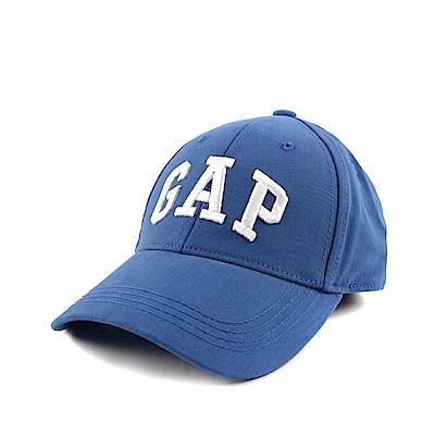 GAP 經典LOGO鬆緊帶式鴨舌帽-藍色