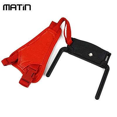 韓國品牌馬田Matin單眼相機手腕帶M-7371(酒紅色;底座有支架,可讓機身站立)