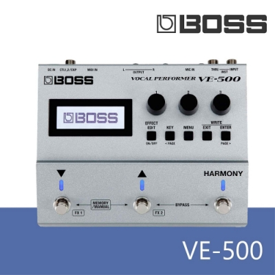 BOSS VE-500/人聲效果器/自動音高校準/自動多部合聲