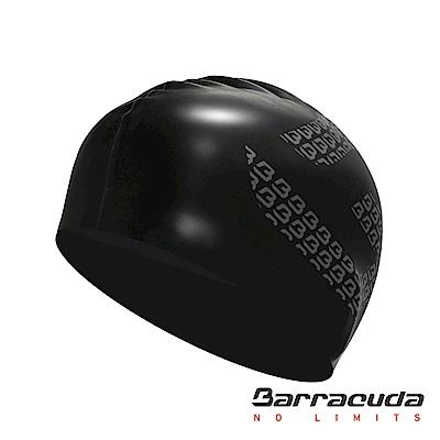 巴洛酷達 成人矽膠泳帽 黑色 Barracuda Flat Silicone Cap