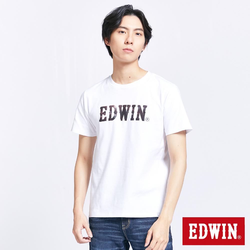 EDWIN EFS溫變迷彩LOGO 短袖T恤-男-白色