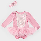 日安朵朵 女嬰雪紡蓬蓬裙連身衣–奧羅拉(長袖)