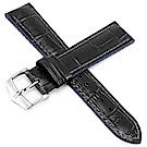 海奕施 HIRSCH AndyL 橡膠複合式小牛皮錶帶-藍