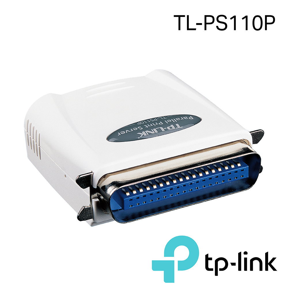 TP-Link TL-PS110P 單一平行埠快速乙太網路列印伺服器 product image 1