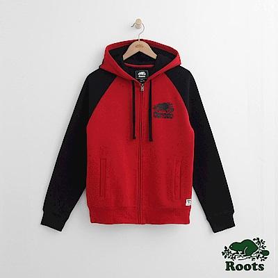 Roots 男裝-周年系列 複合材質連帽外套-紅