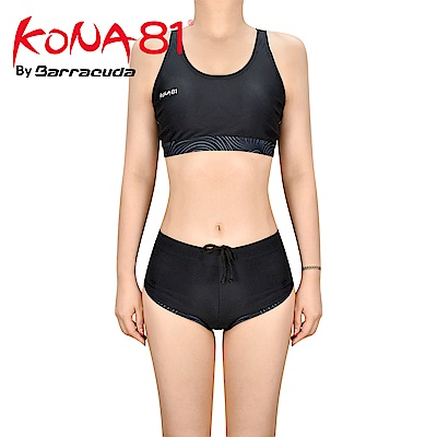 酷吶81 背心式運動抗UV兩件式泳裝 KONA81 GLBT W 18 黑