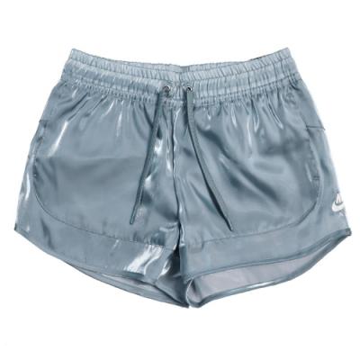 Nike 短褲 NSW Air Shorts 休閒 女款 天使光澤 微透 滑布 穿搭推薦 灰藍 CU5521031