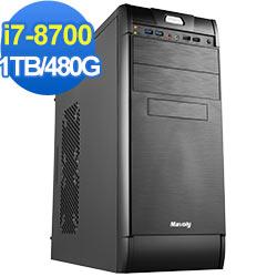 技嘉B360平台[恆星龍神]i7六核效能電腦