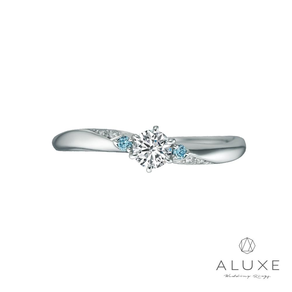 專屬訂製 ALUXE 亞立詩Cinderella-PT950鉑金0.30克拉求婚鑽戒