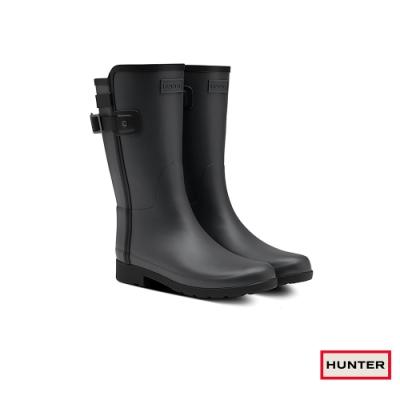 HUNTER - 女鞋 - Refined撞色拼接霧面短靴 - 黑
