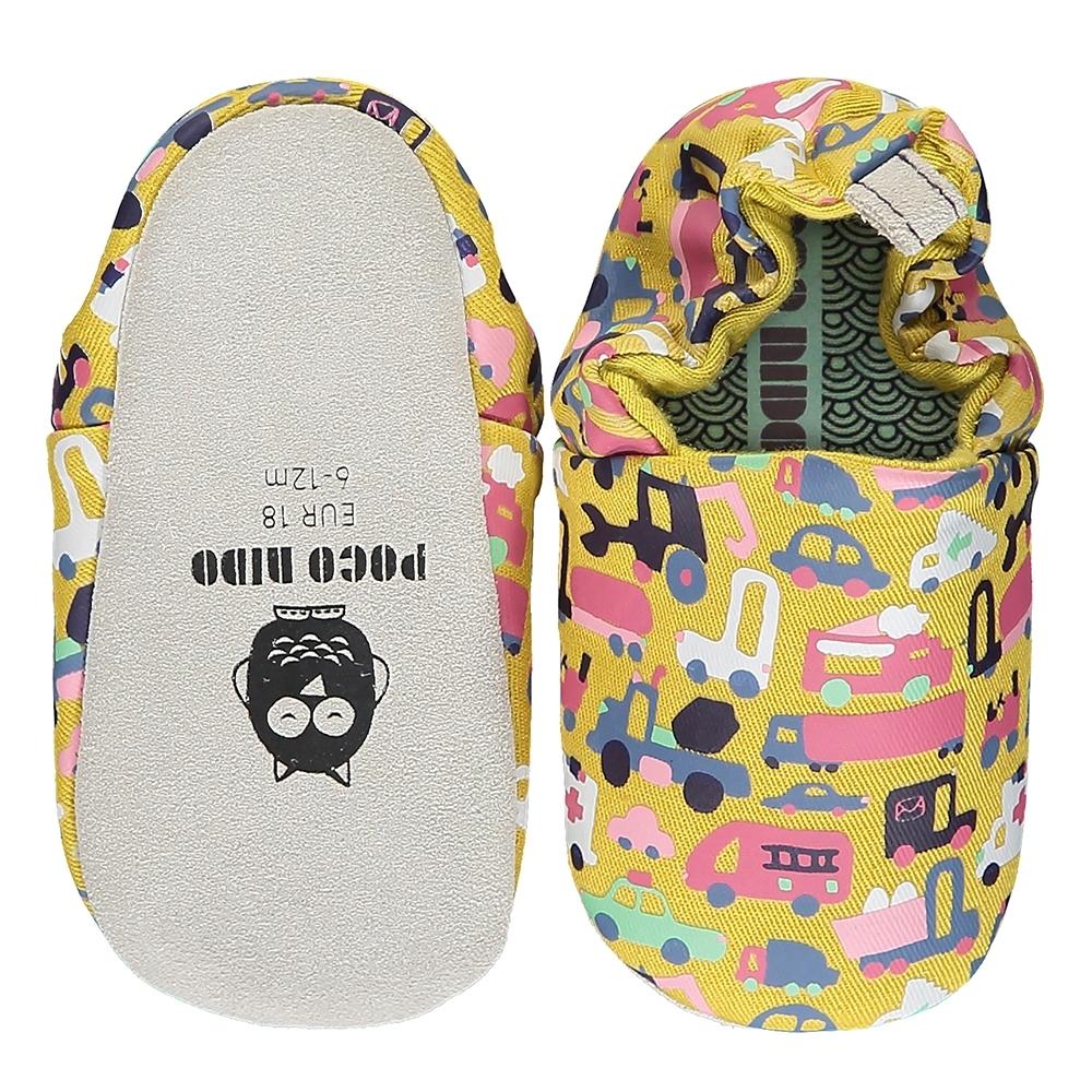 英國 POCONIDO 手工嬰兒鞋 (車車大集合)
