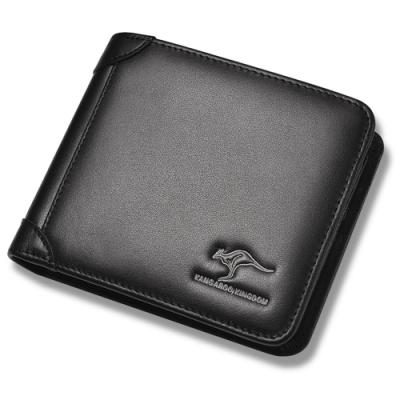 PUSH!精品皮件頭層牛皮真皮橫款錢包卡包錢夾皮夾短款PUSH31