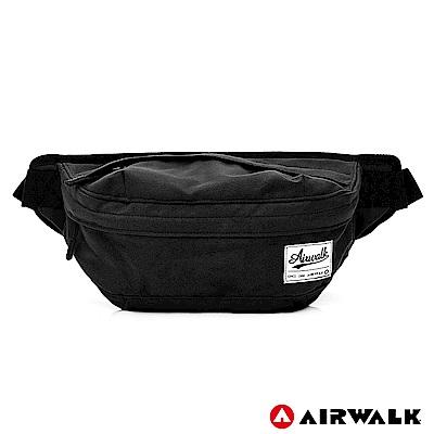 AIRWALK-都會輕騎休閒側背包-黑