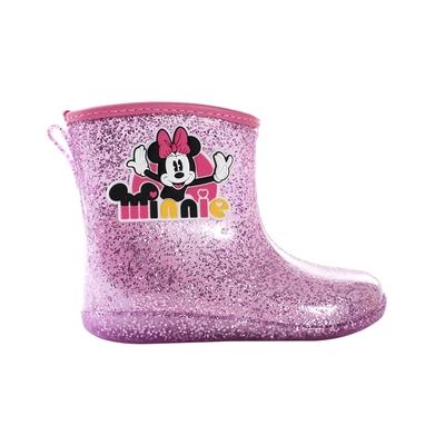 魔法Baby 女童雨鞋 台灣製迪士尼米妮正版短筒雨鞋 sd3261