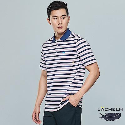 【LACHELN】經典條紋POLO衫-(L82M901)