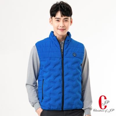 Christian  時尚機能休閒立領背心 _藍(JW802-55)