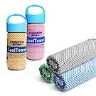 【2入組】二代SGS認證涼感竹炭纖運動毛巾(顏色隨機)