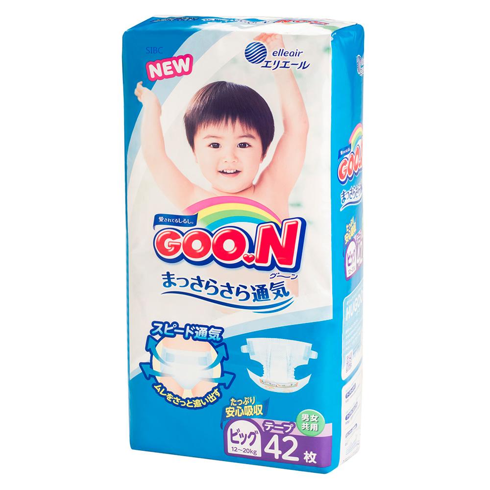 GOO.N日本大王 黏貼紙尿褲 境內版 XL 42片x4包/箱