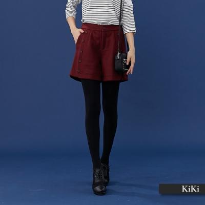【KiKi】挺版鈕扣設計-短褲