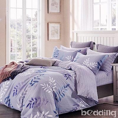 BEDDING-100%棉加大雙人鋪棉床包兩用被套四件組-輕歌曼舞-灰