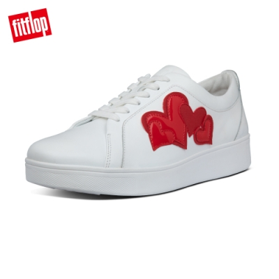 【FitFlop】VALENTINE'S SNEAKERS 愛心繫帶休閒鞋-女(紅/白色)