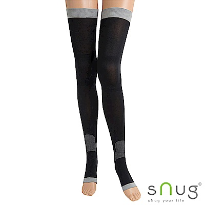 SNUG 越睡越美麗 睡眠美腿襪(黑色)