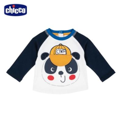 chicco-玩具巴士-立體貓熊長袖上衣