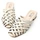D+AF 復古私著.層次感編織低跟穆勒鞋*米 product thumbnail 1