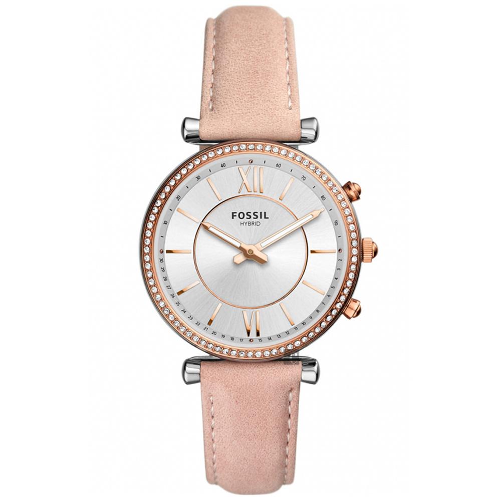 Fossil Q Carlie 指針式智能女錶(FTW5039)-銀x粉色/36mm @ Y!購物