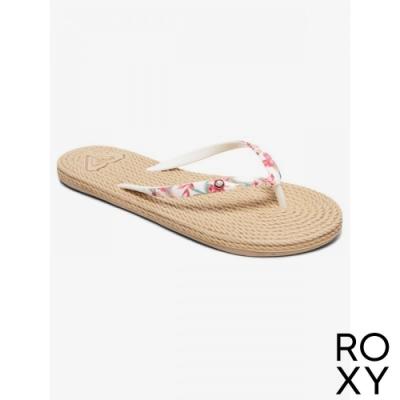 【ROXY】SOUTH BEACH II 夾腳拖 白色