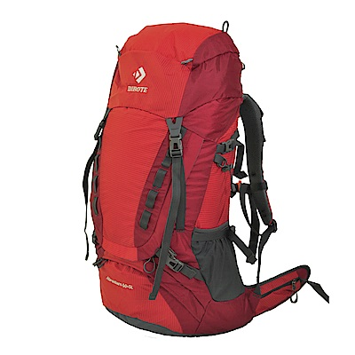 迪伯特DIBOTE 人體工學60+5L登山背包/登山包 (紅)