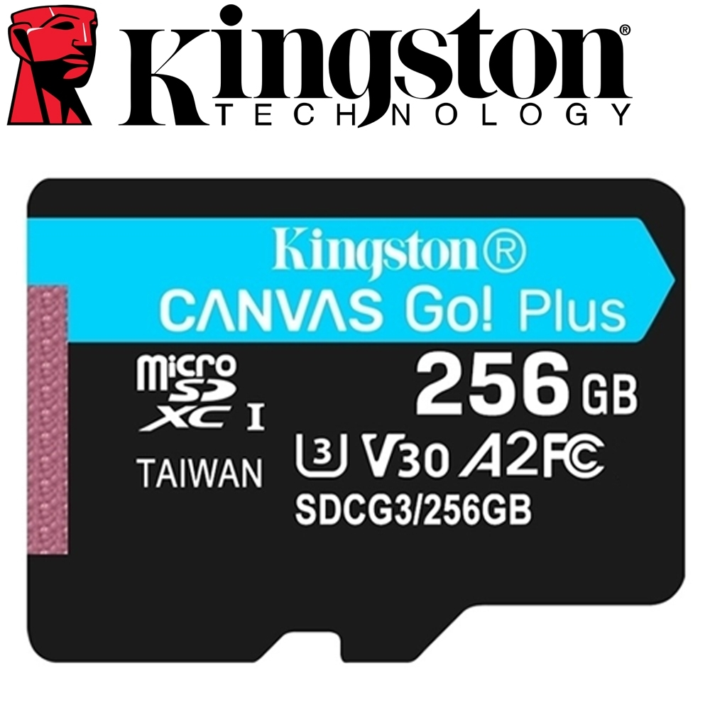 金士頓 Kingston 256GB 170MB/s U3 microSDXC UHS-I V30 A2 記憶卡 SDCG3/256GB