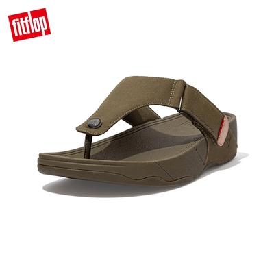 【FitFlop】TRAKK CANVAS TOE-POST SANDALS 經典帆布夾腳涼鞋-男(軍綠色)