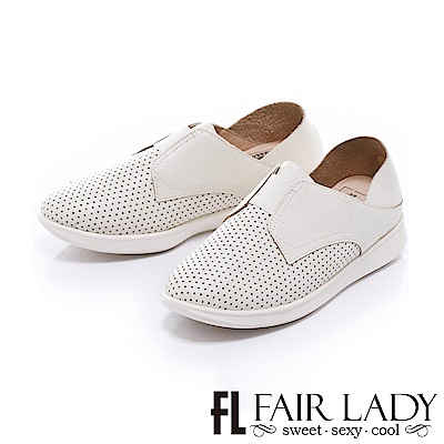 Fair Lady Soft Power 軟實力 好搭時尚透氣便鞋 奶油白