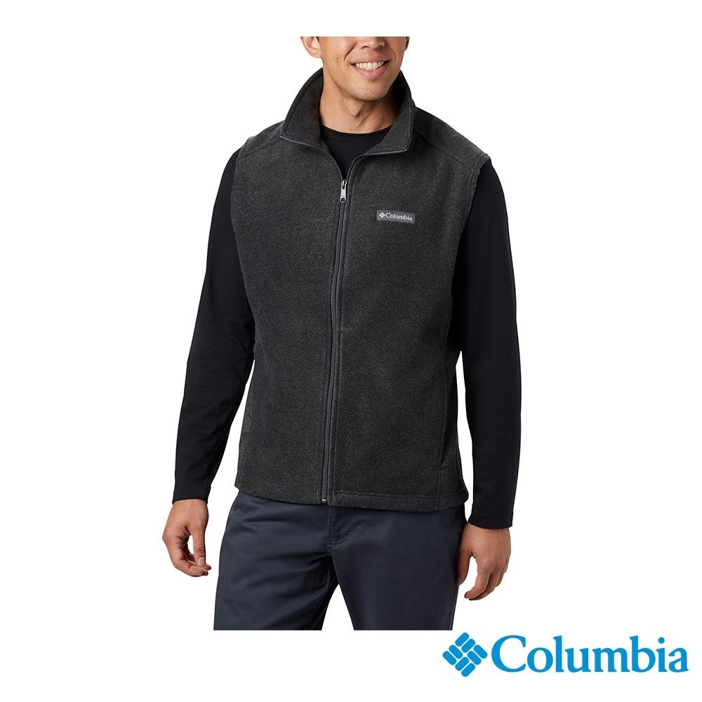 Columbia 哥倫比亞 男款 -  刷毛素面背心-灰色 UAE15350GY