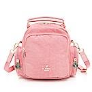 PLAYBOY- 後背包可斜背/手提  皺皺時代系列 -粉色