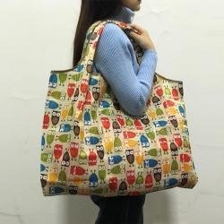 EZlife 環保折疊寬肩帶大容量購物袋