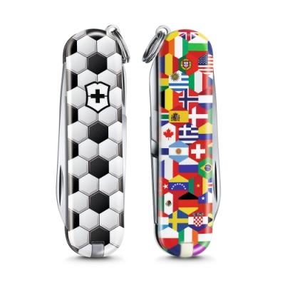 VICTORINOX 瑞士維氏限量迷你7用印花瑞士刀-足球世界 06223.L2007