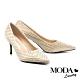 高跟鞋 MODA Luxury 奢華貴氣羊皮尖頭高跟鞋-金 product thumbnail 1