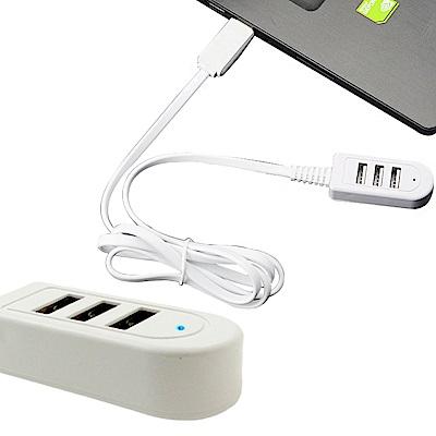 AISURE 3孔 USB 2.4A  120CM 充電傳輸線