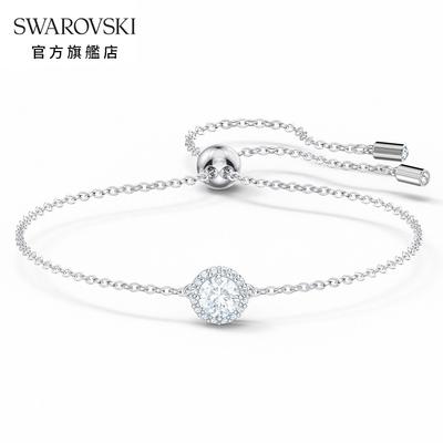 SWAROVSKI施華洛世奇 Angelic 白金色典雅水晶手鏈