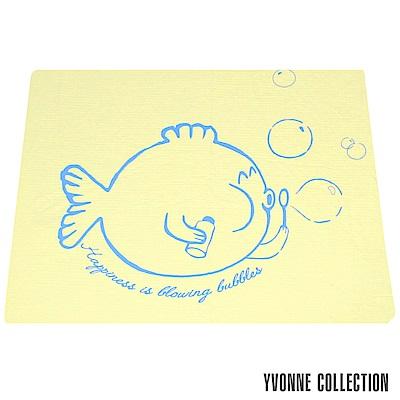 YVONNE COLLECTION 泡泡魚雙人薄紗被(6x7呎)-嫩黃