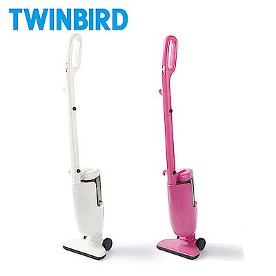 【結帳再折377】日本TWINBIRD-強力手持直立兩用吸塵器(白/粉紅)ASC-80TW