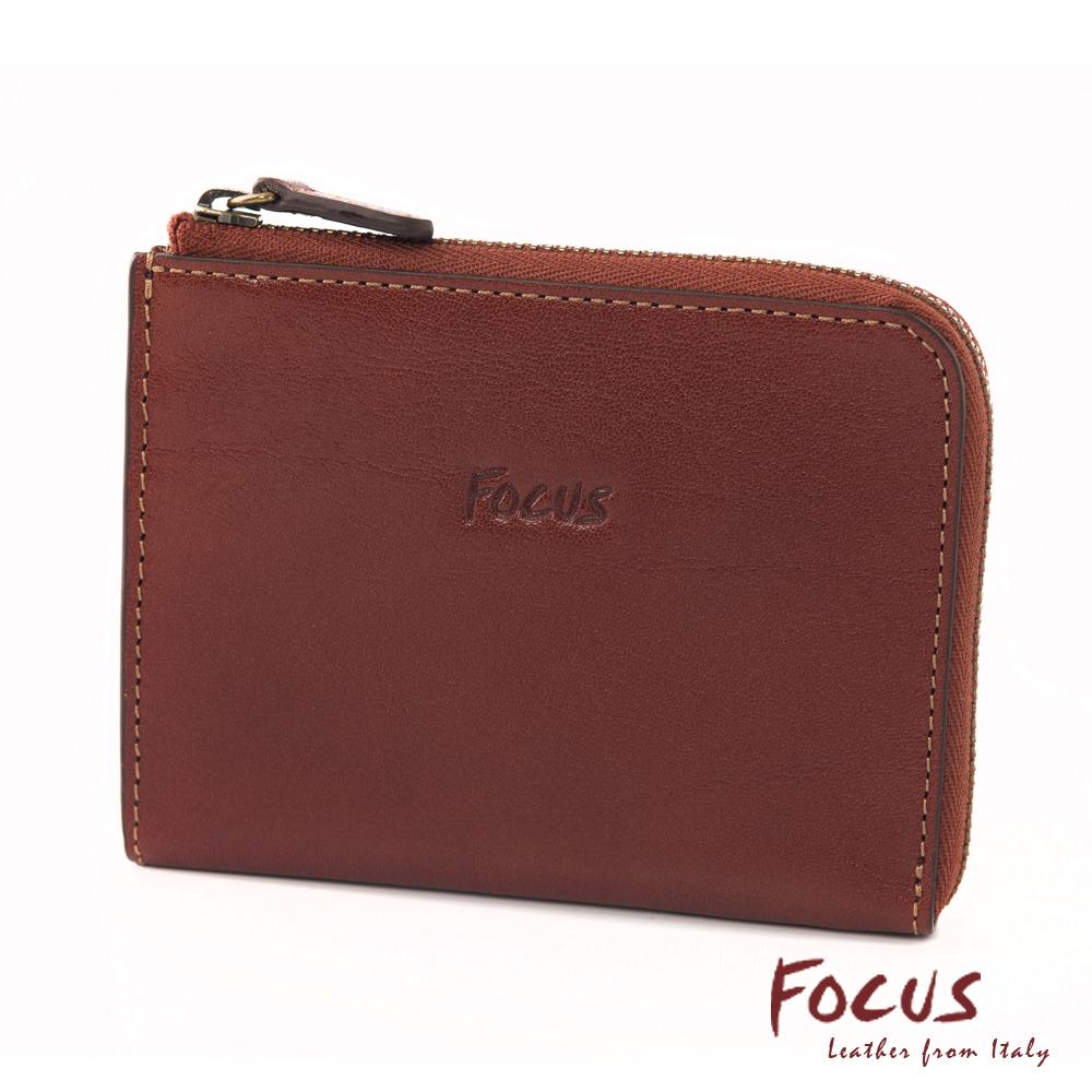 FOCUS經典原皮L型卡夾零錢包(FTA0089)